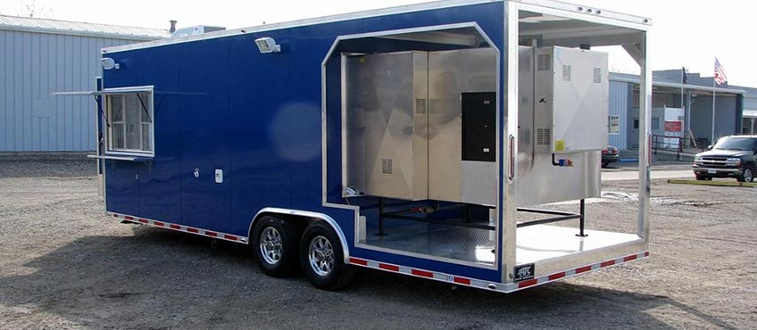 Portable Trailers Work : Trailers mobile marketing display work car hauler